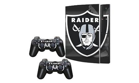 SkinGizmos Oakland Raiders Vinyl Adhesive Decal Skin for Playstation 3