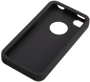 AmazonBasics Étui en silicone pour iPhone 4/4S Noir