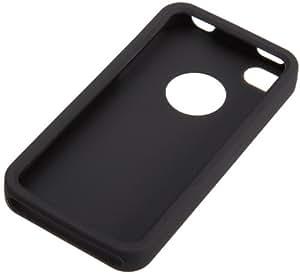 AmazonBasics Case for Apple iPhone 4 / 4S Black Silicone