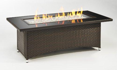 Montego Fire Pit Coffee Table w/ Balsam Wicker Base (CF-1242)