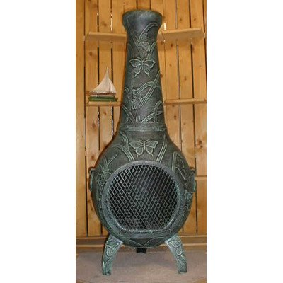 Butterfly-Style-Chiminea-Finish-Antique-Green