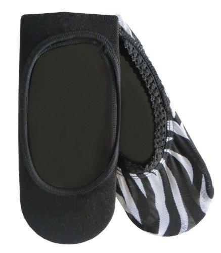 Betseyville Mesh Womens 2-Pk Footie (Zebra/Black) front-897907