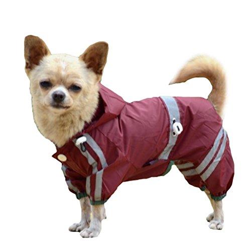 Haustier Sturm Hund RegenJacke Regenmantel mit Kapuze Wasserdicht