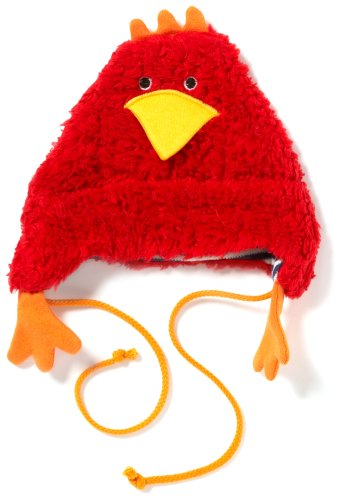 Lana naturalwear 901 4711 5049 - Berretto a forma di gallina, Rosso (Rot (Rot)), 38/ 40