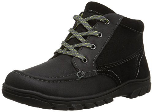 Florsheim Kids Trektion JR HB Hiking Boot (Little Kid/Big Kid), Black, 5 M US Big Kid