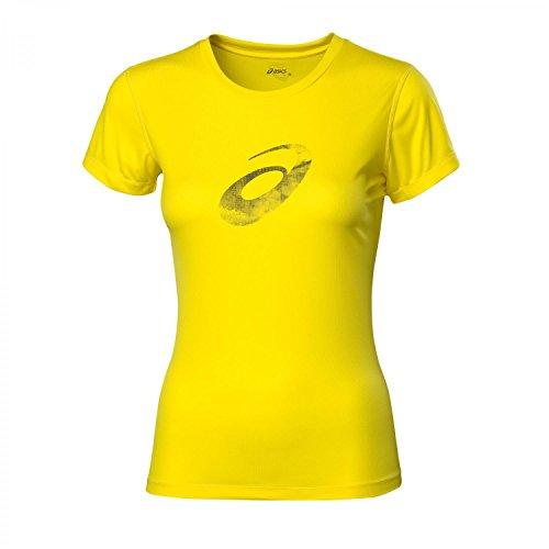 asics-graphic-camiseta-de-running-para-mujer-color-amarillo-talla-l