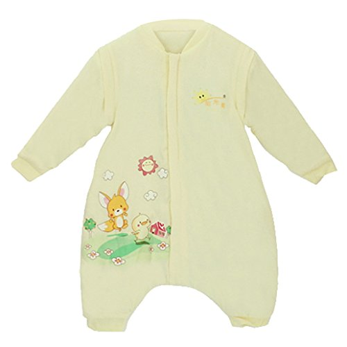 DEHANG Baby Newborn Sleepsack Sleeping Bag Separate Leg Wearable Blanket Size M - Yellow