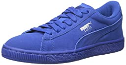 PUMA Suede JR Sneaker (Little Kid/Big Kid) , Monaco Blue/Monaco Blue, 11 M US Little Kid