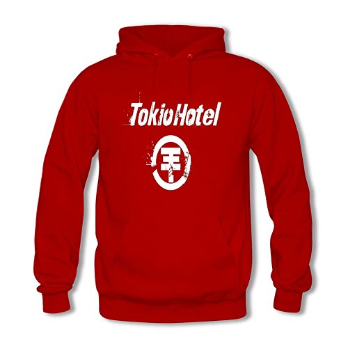 Diy Tokio Hotel Men's Long Sleeve Classic Hoody YHLN XL Red (Tokio Hotel Book compare prices)