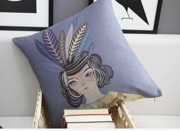 Gypsy Girl Bedding Sofa Cushion Cover Pillow Case front-1020492