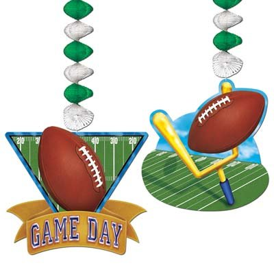 Beistle 50475 2-Pack Game Day Football Danglers for Parties, 30-Inch
