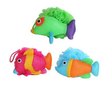 Tropical Fish Bath Sponges - Set of 3