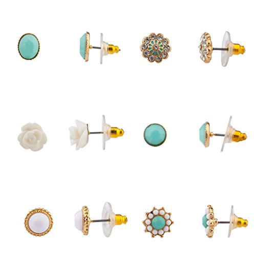 Lux-Accessories-Womens-Girls-Assorted-Multiple-Stud-Earring-6-Pair-Sets