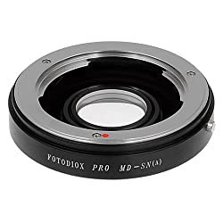 Fotodiox Lens Mount Adapter Minolta MD/MC Rokkor Lens to Sony Alpha A-Mount Camera for Sony A100 A200 A230 A290 A300 A330 A350 A380 A390 A450 A500 A550 A560 A580 A700 A850 A900 SLT-A35 A33 A37 A55 A57 A65 A77