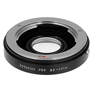 Fotodiox Lens Mount Adapter, Minolta MD/MC Rokkor Lens to Sony Alpha A-Mount Camera, for Sony A100, A200, A230, A290, A300, A330, A350, A380, A390, A450, A500, A550, A560, A580, A700, A850, A900, SLT-A35, A33, A37, A55, A57, A65, A77