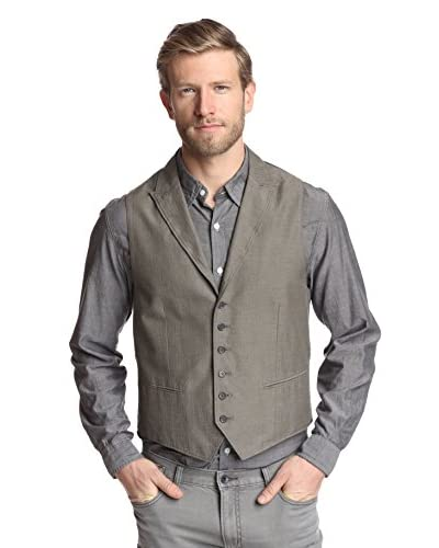 John Varvatos Star USA Men's Five Button Peak Vest