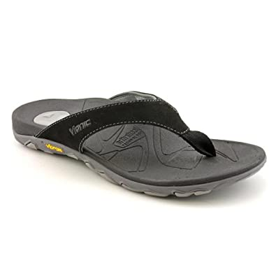 Orthaheel Bryce Orthotic Flip Flops for Men Black/Grey - 7 M US