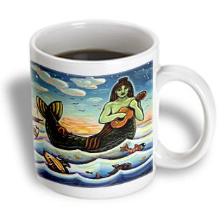 Mug_21204_2 Paul Honatke Designs Prints - Mermaid Woman Water Ocean Folk Folklore - Mugs - 15Oz Mug