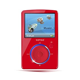 SanDisk Sansa Fuze 4 GB Video MP3 Player (Red)