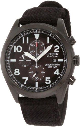 Citizen Men's CA0255-01E Sport Eco-Drive Chronograph Strap Watch