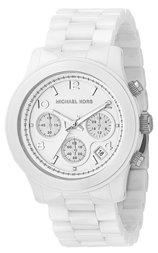 Michael Kors White Oversized Ceramic Watch 5163