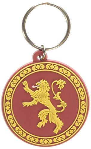 Pyramid intl - Portachiavi Game of Thrones - Maison Lannister en Caoutchouc 6cm - 5050293383651