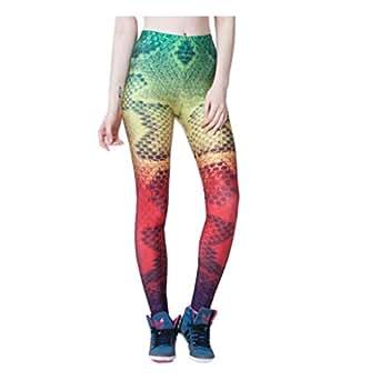 Funny Colorfu Snake Fitness Skinny Leggins Sport Leggings: Clothing