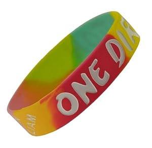 Hippie Tie Dye I Love One Direction Wristband I Love One Direction Bracelet 1 Wide 3 by Hinky Imports
