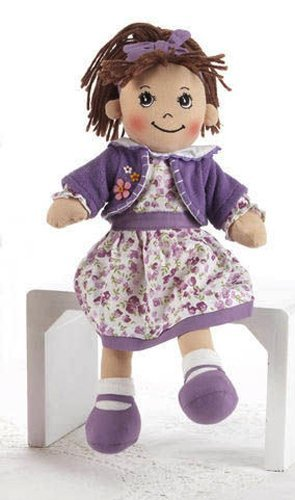 """Soft Cloth Doll, 14"""" With Removable Clothing, Embroidered Facial Features, Brown Yarn Hair front-922781"""