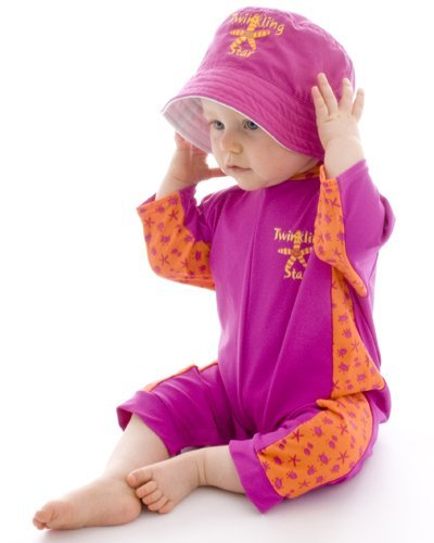 Splash About Uv All-In-One Suit (Sun Protection), Bobbing Along Pink, 6-12 Months front-208762