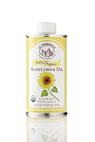 La Tourangelle Organic Sunflower Oil, 16.9-Ounce Tins (Pack of 3)