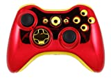 Custom Xbox 360 Wireless Controller Modiify (Iron Man Chrome Red Gold)