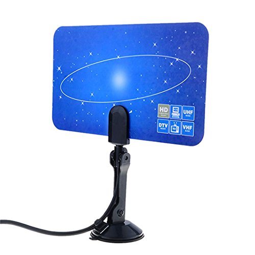 Cheapest Prices! WOOKRAYS Digital Indoor TV Antenna HDTV DTV Box Ready HD VHF UHF Flat Design US Loc...