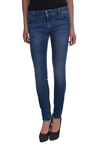 <p>TWIN-SET Jeans donna, J2A44C 100 denim medio, tasca cuore, stretch e slim fit</p>