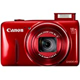 Canon PowerShot SX600 HS Digital Camera Adventure Kit with Travel Case and Joby Gorillapod - Red (16MP, 18x Optical Zoom) 3 inch LCD