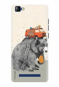 Noise Designer Printed Case / Cover for LYF FLAME 8 / Animated Cartoons / Travel Design