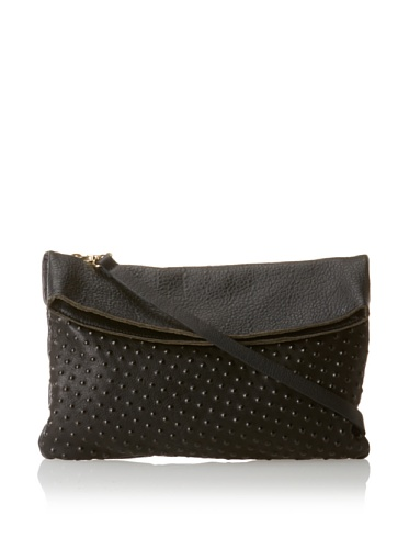 gorjana Women's Bleeker Noir Foldover Cross-Body, Black Dots