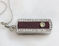 Anyusb243 Fancy Jewellery Studded Swivel Pen Drive (8 Gb) + Exclusive Hand Made Gift Box