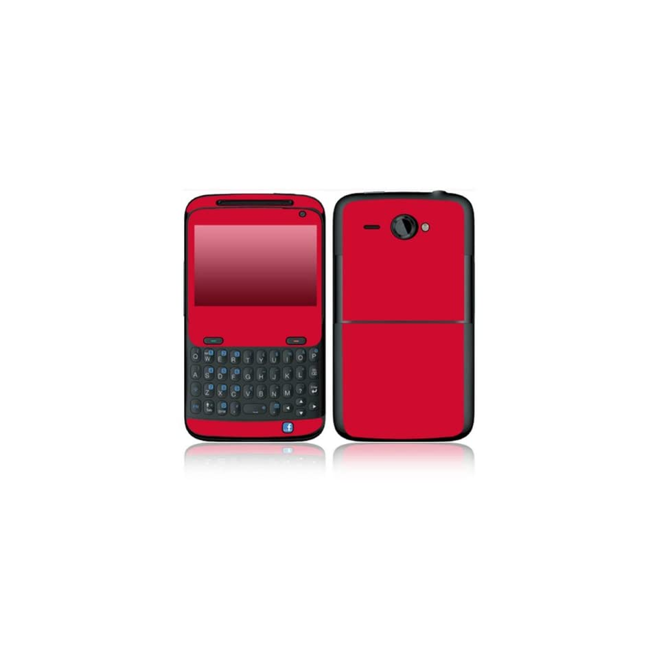 Simply Red Design Decorative Skin Cover Decal Sticker for HTC Status Cell Phone