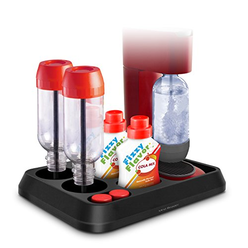 Mind Reader All-In-One Sodastream Storage Tray, Black