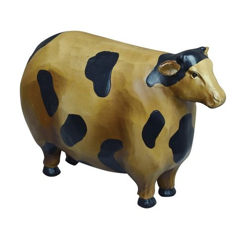 CWI Gifts Rustic Resin Cow, 2 by 4-Inch