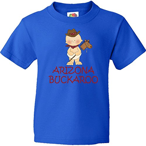 Inktastic Big Boys' Little Arizona Buckaroo Youth T-Shirts Youth Large Royal Blue front-654592