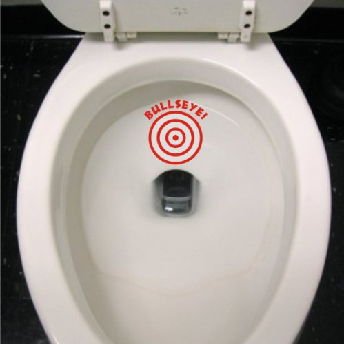 Potty Training Bullseye Decal - Boys sticker Kids Aim Toilet funny target