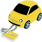 Emtec 8GB USB 2.0 Flash Drive - Yellow Fiat 500