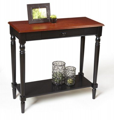 Convenience Concepts French Country Foyer Table with Drawer and Shelf: