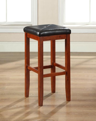 Crosley Furniture Upholstered Square Seat Bar