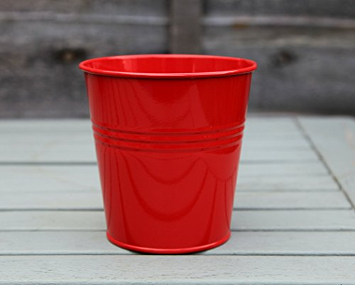 105cm-metal-tin-flower-pot-planter-pen-holder-container-various-colours-red