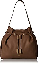 Vince Camuto Arora Drawstring Shoulder Bag, Chocolate Chip, One Size