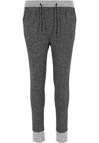 Urban Classics Ladies Melange Contrast Sweatpants Pantaloni jogging donna nero XS
