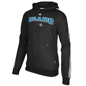 Orlando Magic adidas Represent 3-Stripe Pullover Hooded Sweatshirt - Black by adidas